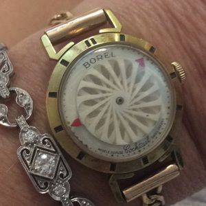 """BOREL gold watch """"cocktail"""" 14k band works great"""